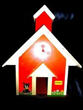 Vintage 1971 Fisher Price Little People Play Family School House #923