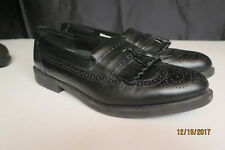 Men's Deer Stags Westbury Black Tassel Leather Slip On Loafers Shoes Size 11 M