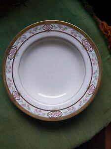 MIKASA china MERRICK L5517 pattern Soup Bowl - Floral - Gold Trim