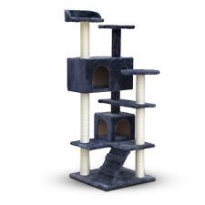 Blue Cat Tree Scratcher House Condo 134cm Tall Natural Sisal Poles Fun Pets Cats