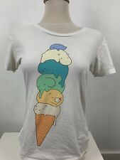 Animals and Ice Cream White T-shirt size Large, Accept Offers