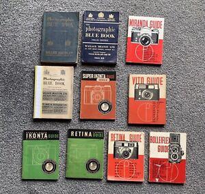 10 x Photography / Camera Books Booklets 1950s 1960s Retina Ikonta Blue Book