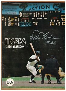 Willie Horton AUTOGRAPHED 1966 Detroit Tigers Yearbook SIGNED AUTO