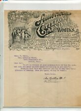 Vintage Illustrated Letterhead AMERICAN COTILLON & CARNIVAL WORKS 1902 Chicago