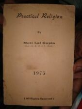 INDIA  RARE - PRACTICAL RELIGION BY MOTI LAL GUPTA 1975 - PAGES 74