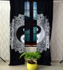 Flower Yin Yang Wall Hanging Door Window Curtain Tapestry Drape Valance Indian