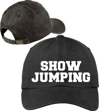 Show Jumping Baseball Cap Horse Lovers Hat with Soft Feel Lettering.