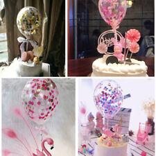 Confetti Foil Balloon 5'' Colourful Birthday Party Wedding Cake Topper Decor Set