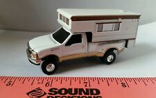 1/64 ERTL custom Ford f350 2 tone pickup truck with camper farm toy dcp display