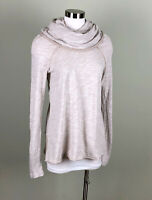 Free People FP Beach Cowl Neck One Body Long Sleeve Knit Top Coverup Size OS