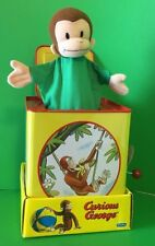 Curious George Classic Musical Jack In The Box Toy Schylling 2001 - Green Shirt