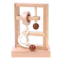 3D Wooden Rope Loop Puzzle IQ Mind String Brain teaser Game for Adults TDUK A8A