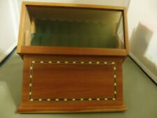 Vintage Levenger 16 Fountain or Any Pen Inlaid Wood Glass Display Case Holder