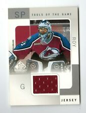 PATRICK ROY NHL 2000-01 SP GAME USED TOOLS OF THE GAME (AVALANCHE,CANADIENS)