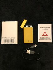Double Arch Rechargeable USB Electric Pulse Plasma Cigarette Metal Lighter Gift