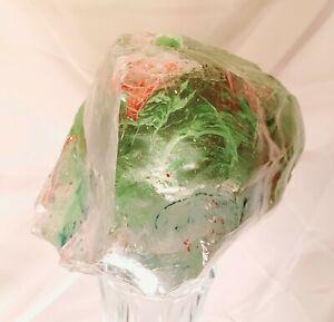 Slag Glass Rock Cullet Giant 19lbs! Yard Art Rainbow Zen Garden Crystal Gem...