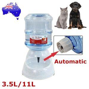 Automatic Pet Dog Cat Water Feeder Bowl Bottle Self Feeding Dispenser 3.5L/11L