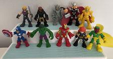Playskool Heroes Marvel Ultimate Nick Fury Vision Ultron Black Widow Hawkeye Lot