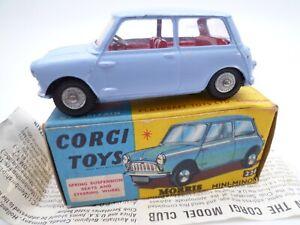 VINTAGE CORGI 226 MORRIS MINI MINOR IN ORIGINAL BOX ISSUED 1960-68