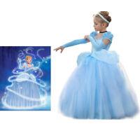 Disney Cinderella Costume for Girls, Cinderella Princess Cosplay Blue Dress