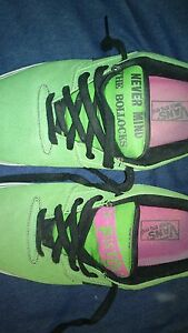 2009 Sex Pistols Rowley 99's Lime Green suede Vans Size 11.5