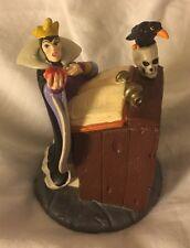 Vintage Disney Store Evil Queen PVC Snow White Lil Classics 7 Dwarfs Apple Figur
