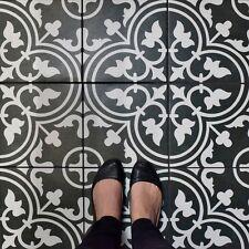 Art Black Porcelain Floor And Wall Tile Case 16 Bathroom Decor Geometric Pattern