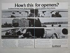 3/1975 PUB LOCKHEED C-130 HERCULES C-5A GALAXY C-141 TACTICAL AIRLIFTER AD