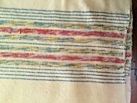 Rare Antique Homespun double wool blanket double means 70 w x 160 inches