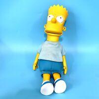 "BART SIMPSON 11.5"" Plush and Plastic DOLL FIGURE THE SIMPSONS 1990 MATT GROENING"