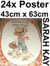 SARAH KAY POSTER 43cm x 63cm BILD KUNSTDRUCK DEKO NOSTALGIE VOGEL RETRO MÄDCHEN