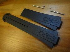 Genuine 26mm/12mm ORIS Aquis Date 7653 Ø43mm RUBBER band strap 42634 NO CLASP