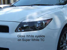 05-2010 Scion TC Headlight Eyelid Overlays -Gloss White Pre-Cut vinyl eye brows