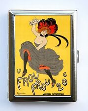 Le Frou Frou Cigarette Case id case Wallet Business Card Holder french poster