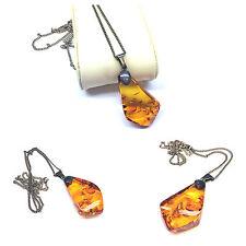 Amber Pendant Silver Chain 835 Silver Silver Jewellery Silver Chain Bernstein