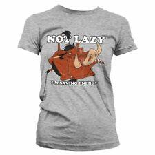 Women's Lion King Pumbaa Not Lazy Fitted T-Shirt