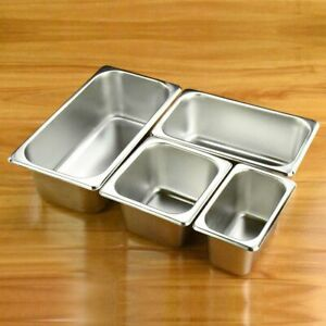 Food Buffet Basin Plate Stainless Steel Square Pots Tray Dishes Eco Friendly New