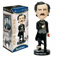 "ROYAL BOBBLES EDGAR ALLAN POE 8"" BOBBLE HEAD FIGURE BRAND NEW IN BOX"