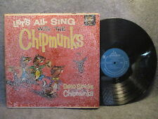 33 RPM LP Record David Seville Let's All Sing With The Chipmunks Liberty LRP3132