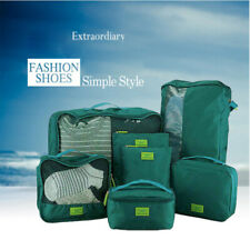 7Pcs Travel Bags Waterproof Packing Cube Portable Clothes Case Luggage Organizer
