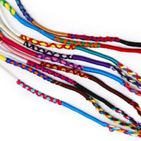 lot 9 Colorful FRIENDSHIP BRACELET Surfer Wristband Cuff Bracelet Hippy Boho