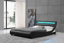 Ladeso SF-808 K-B SL-EDGEWATER Black Modern King Platform Bed w/LED Lights