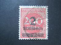 Deutsches Reich MiNr. 309 A Pb gestempelt  INFLA GEPRÜFT  (C 851)