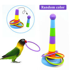 New listing Pet Bird Parrot Toys Parakeet Cockatiel Ferrule Toy Games Rings Training Toy