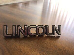 1993 1998 Lincoln Mark VIII TRUNK  EMBLEM COLOR SILVER