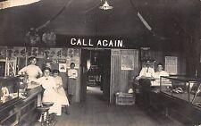 Real Photo Postcard Riverside Drug Store, Cigars, Bakery Iowa City, Iowa~108950