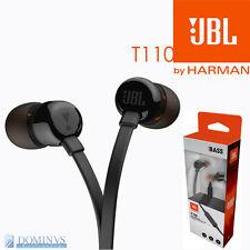 JBL T110 Cuffie Auricolari Originali Control Microfono In-Ear Filo Piatto Black