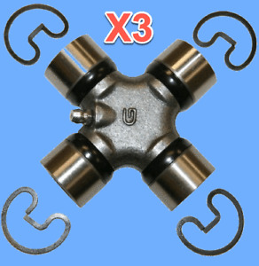 3 Driveshaft Universal Joint Kit Front Or Rear Greasable W. Snap Rings