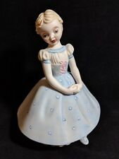 """Vintage Holland Mold Hand-Painted Dutch Girl in Blue Dress 6.75"""""""