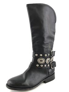 Matisse Boone Black Leather Mid Calf Western Boots Women's Size 6.5 M *